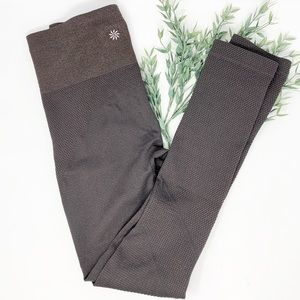 Athleta Brown Sparkle High Waisted Textured Tights